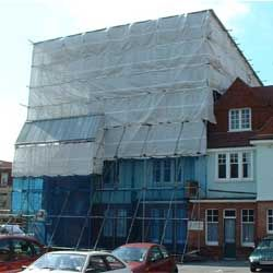 Temporary Roof Scaffolding eastbourne, erected by Intercon Scaffolding Company