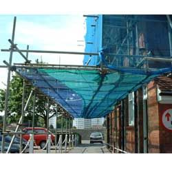 Bridging Scaffolding spanning the road