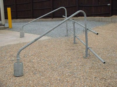 scaffold temporary handrails by INTERCON scaffolding (Eastbourne)