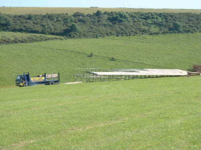 Scaffold platform for marque,wedding marque scaffold,scaffold on south downs