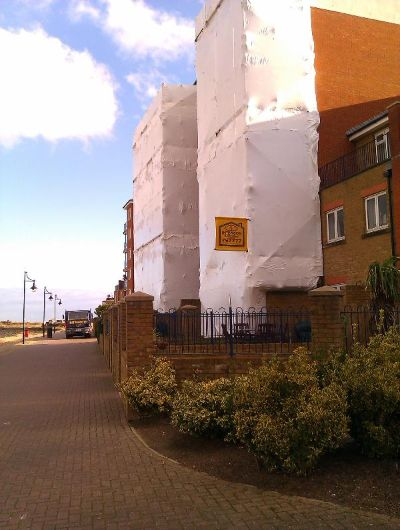 Scaffold shrink wrap sheeting by Intercon Scaffolding